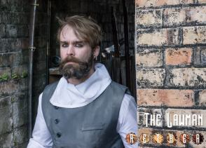 Jeremy Sande as The Lawman in AETHER: Prologue